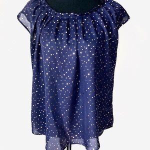 LC metallic blouse